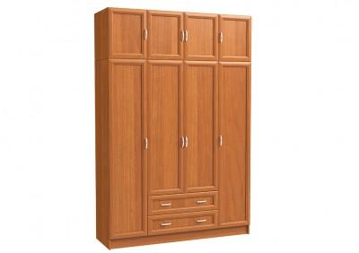 Шкаф 4х дверный с антресолью и 2 бол. ящ.