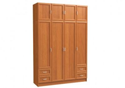 Шкаф 4х дверный с антресолью и 4 мал. ящ.