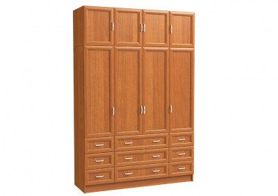 Шкаф 4х дверный с антресолью, 6 мал. и 3 бол. ящ.